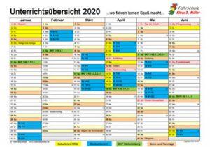 Blockunterricht 2020